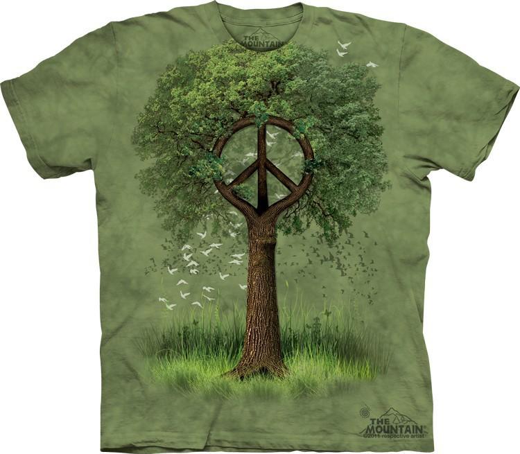 Футболка Mountain с изображением древа мира - Roots of Peace