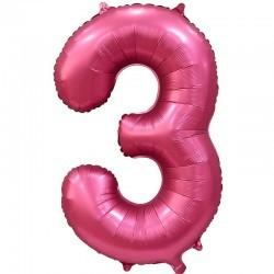 Шары цифры Шар цифра сатин 3 розовая 3satin.jpg