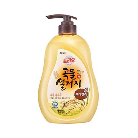 Средство для мытья посуды Рисовые отруби Aekyung Trio Rice Bran 750 мл