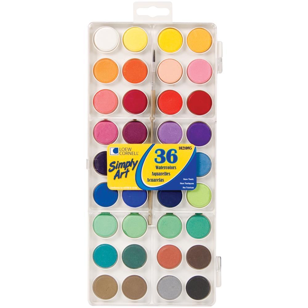 Акварельные краски 36 цветов