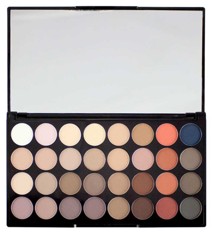 Набор из 32 оттенков теней Makeup Revolution 32 Eyeshadow Palette, Flawless Matte 2