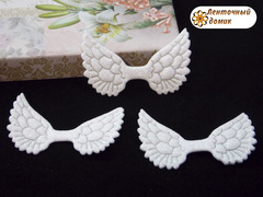 Декор глиттерный крылья белые