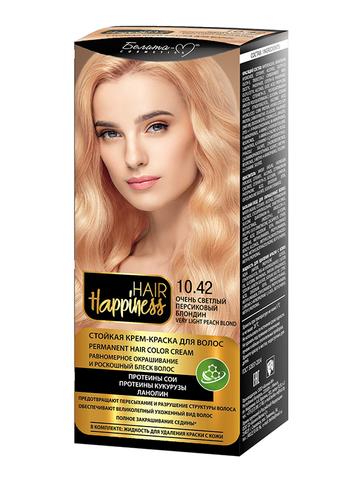 Белита-М Hair Happiness Крем-краска для волос аммиачная №10.42 светлый персиковый блондин