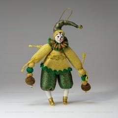 Клоун - елочная игрушка