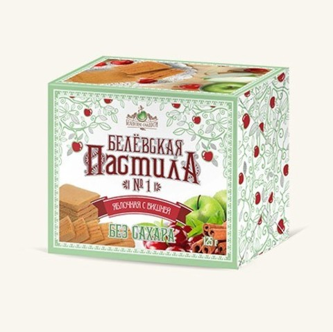 Белевская пастила с вишней без сахара купить в Ростове