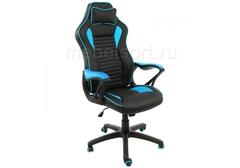 Компьютерное кресло Леон (Leon) черное / голубое