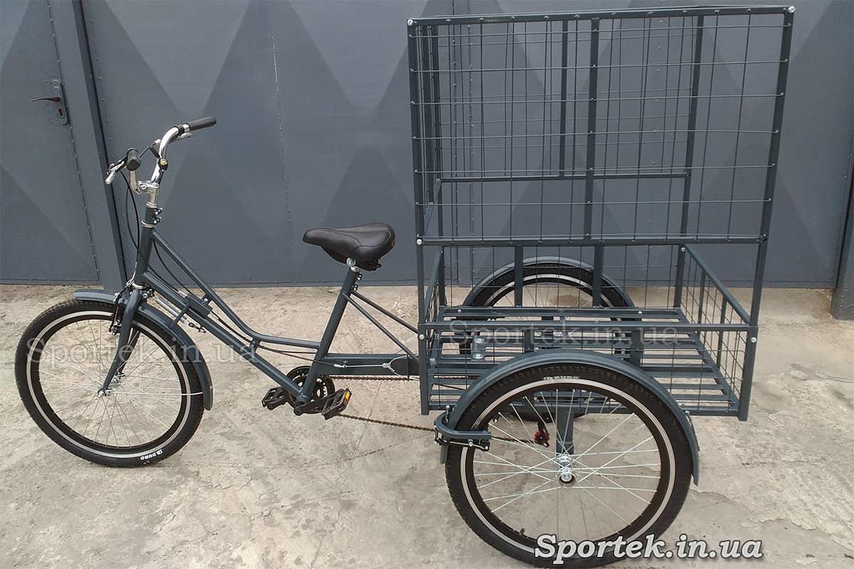 Трехколесный грузовой велосипед 'Марсель' для объемных и тяжелых грузов с колесами 24
