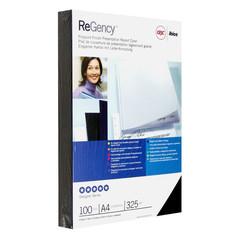Обложки для переплета картонные GBC А4 325 г/кв.м черные глянцевые (100 штук в упаковке)