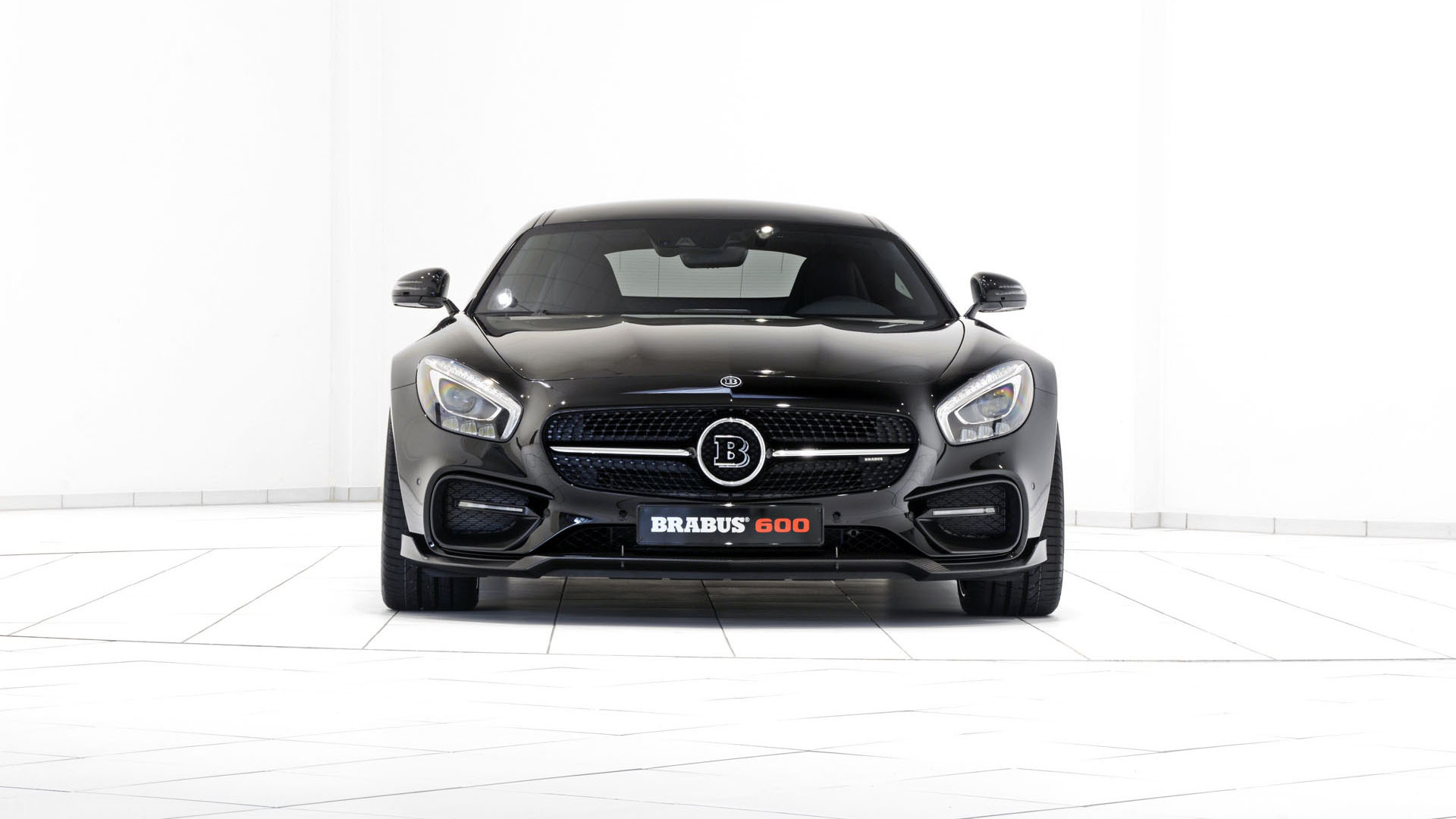 Карбоновый cпойлер переднего бампера Brabus Style для Mercedes GT-class C190