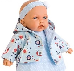 JUAN ANTONIO munecas Кукла Алисия в голубом, озвученная, 27 см (в пакете) (9222B)