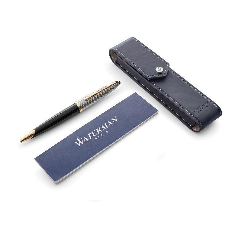 Набор подарочный Waterman Carene De Luxe - Black Silver GT, шариковая ручка + чехол