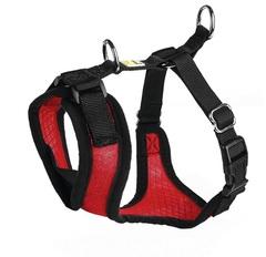Шлейка для собак, Hunter Manoa M (44-55 см), нейлон/сетчатый текстиль, красный