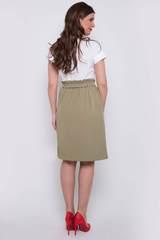 <p>Модная юбка в стиле CASUAL. Можно носить куда угодно и когда угодно. Рекомендуем!!! Свободный силуэт , по талии резинка с поясом. Функциональные карманы... (Длина 60 см все размеры)</p>