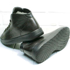 Демисезонные кеды ботинки на толстой подошве Ikoc 1770-5 B-Brown.