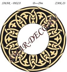 Эскиз для росписи, Зеркало диаметр 29см, SMAR-zmk-23