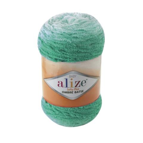 Купить Пряжа Alize Softy Plus Ombre Batik Цвет 7286 Зеленая бирюза | Интернет-магазин пряжи «Пряха»