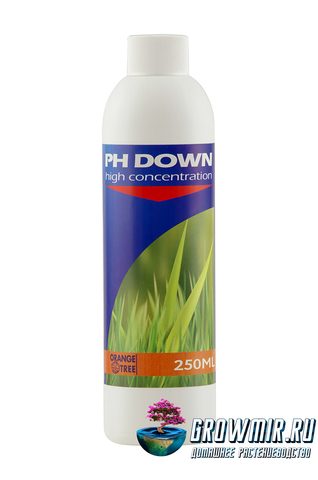 Регулятор кислотности pH Down от Orange tree 0,250л