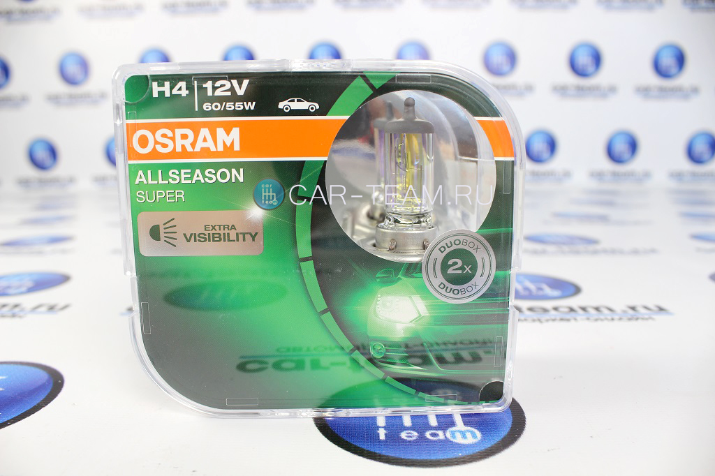Автолампы Osram H4 Allseason / 64193ALS-HCB
