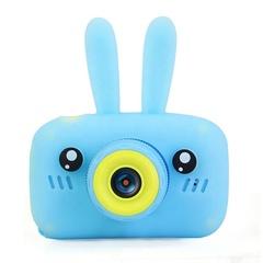 Фотоаппарат детский SmileZoom Зайчик без селфи-камеры / Голубой