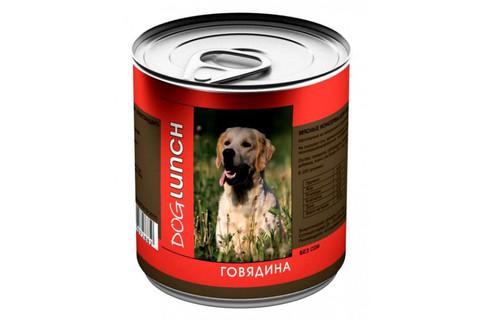 ДОГ ЛАНЧ консервы для собак (говядина в желе) 750г