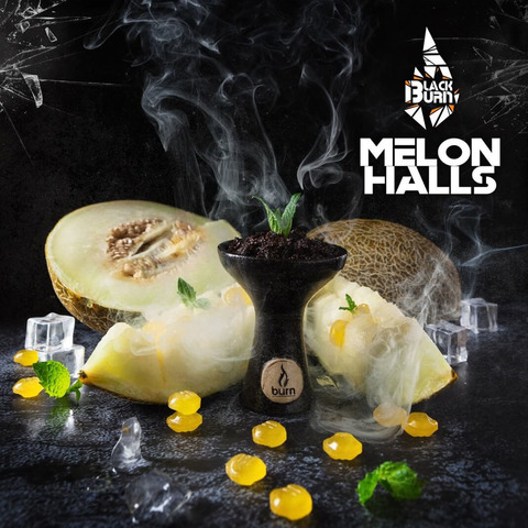 Табак Burn Black Melon Halls (Дынный Холлс) 200 г