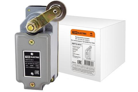 Выключатель путевой ВП-16Г23Б-231-55У2.3 без самовозврата 16А 660В IP55 TDM