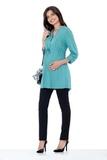 Блузка для беременных 01385 ментоловый