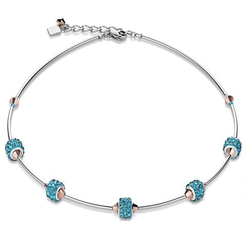 Колье Coeur de Lion 4771/10-2000 цвет голубой