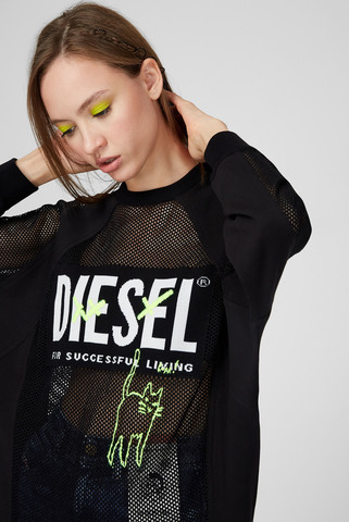 Женский черный свитшот M-PORTIA Diesel