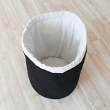 Тканевая корзина для игрушек Black White черная