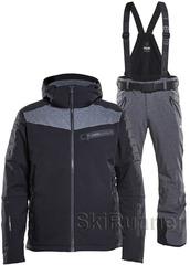 Элитный горнолыжный костюм 8848 Altitude Dimon Jacket Venture Black-Grey Melange 18 мужской