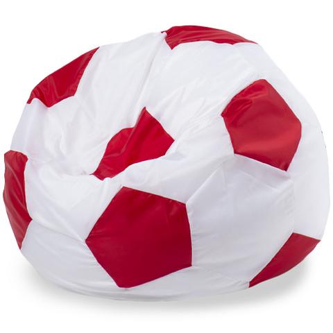 Бескаркасное кресло «Мяч» L, Белый и красный