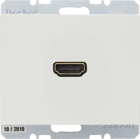 Розетка HDMI. Цвет Полярная белизна. Berker (Беркер). K.1. 3315427009. Цвет Полярная белизна. Berker (Беркер). K.1. 3315427009