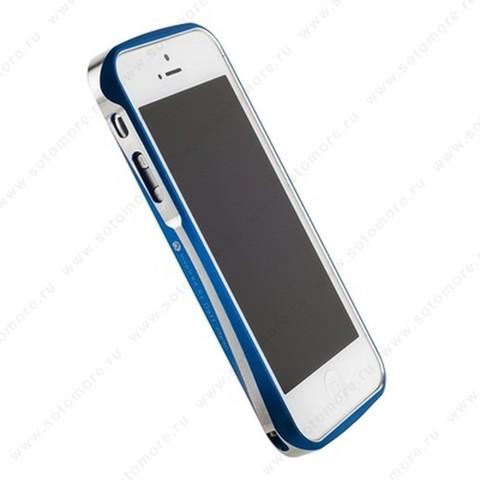 Бампер Deff CLEAVE алюминиевый для iPhone SE/ 5s/ 5C/ 5 A6061 синий