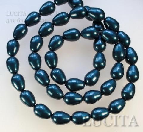 5821 Хрустальный жемчуг Сваровски Crystal Petrol грушевидный 11х8 мм ()