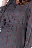 Платье для беременных 09830 серый/ оранжевый