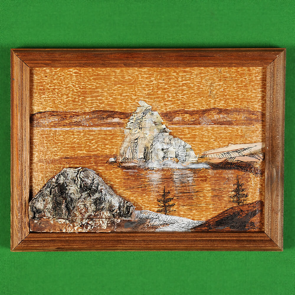 Картина на бересте Байкальский пейзаж 3