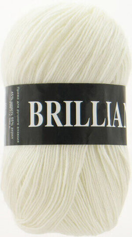 Пряжа Brilliant Vita 4951 белый фото