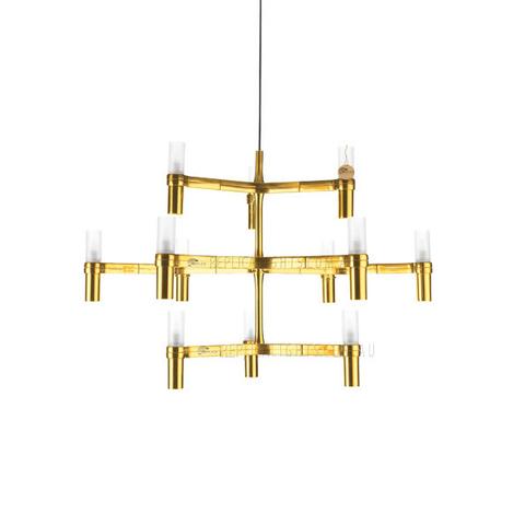 Подвесной светильник копия Crown Major by Nemo (золотой, 12 плафонов)