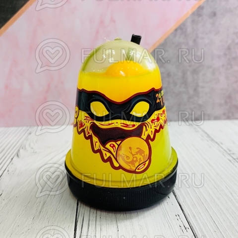 Слайм-лизун Slime Ninja надувающийся, с трубочкой
