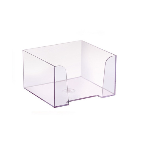 Бокс для бумаги прозрачный 90х90х50 мм