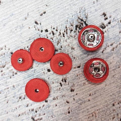 Кнопка пришивная сток Max Mara текстиль красная 10 мм