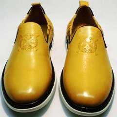 Закрытые туфли летние мужские King West 053-1022 Yellow-White.