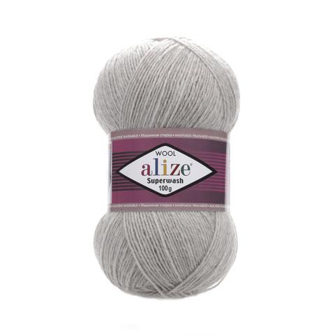 Alize Superwash 21 серый меланж
