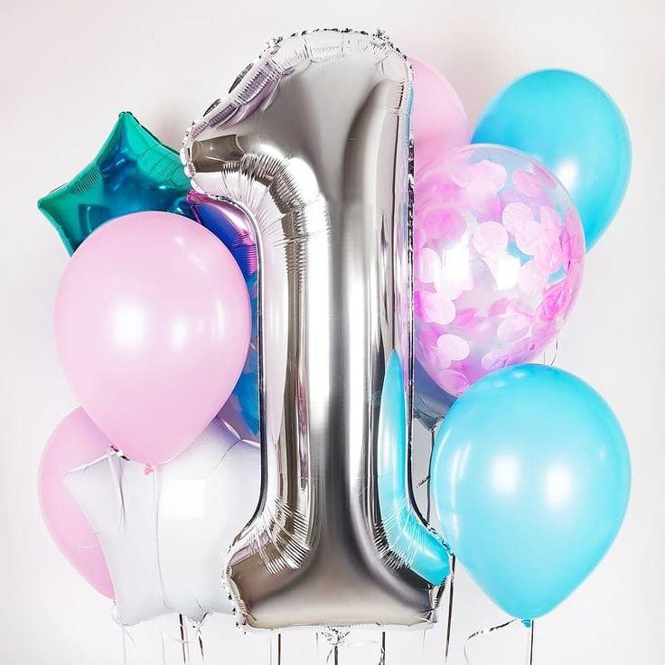Шары на День Рождения ребёнку Набор шариков на годик девочке 1326d07b2514dc69d26e632bf601ad19.jpg
