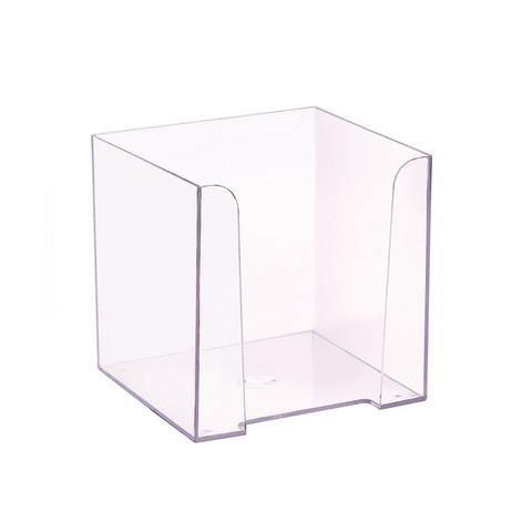 Бокс для бумаги прозрачный 90х90х90 мм