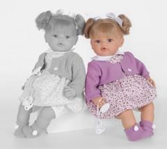 JUAN ANTONIO munecas Кукла Дора в фиолетовом, плачет (1665V)