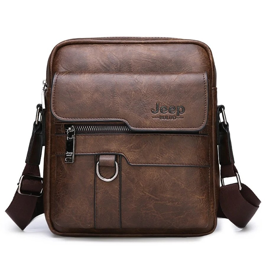 Мужская сумка Jeep Buluo коричневая
