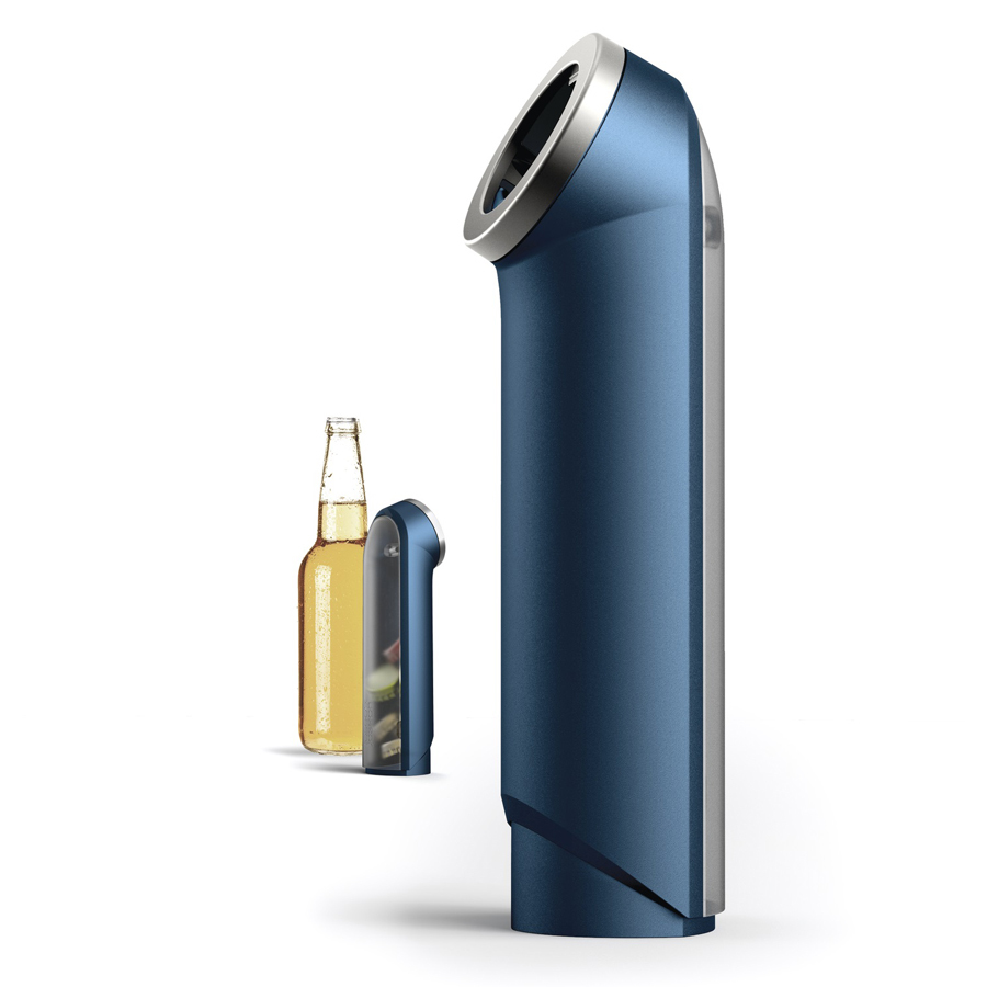 Открывалка для пивных бутылок BarWise с контейнером для крышек открывалка для бутылок