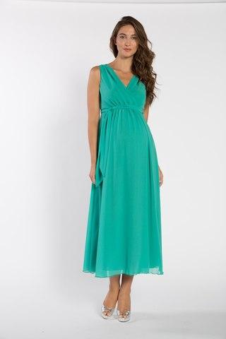 Платье для беременных 03720 зеленый